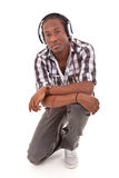 Young african american man with headphones - Black people Stock Photography