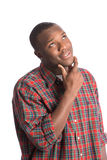 Young African American Man Hopeful Expression Royalty Free Stock Photography