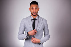 Young african american man looking - Black people Royalty Free Stock Photo