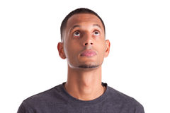 Young african american man looking up Royalty Free Stock Photography