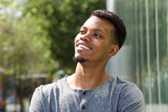 Young african american man smiling outside Royalty Free Stock Photography