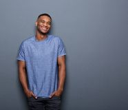 Young african american man smiling Royalty Free Stock Photo