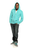Young African American Man standing Stock Image