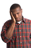 Young African American Man Stressful Expression Royalty Free Stock Photography