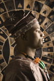 Young African American Man in Traditional African Stock Photo