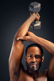 Young African American Man Triceps Workout Royalty Free Stock Image