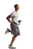 Young African American Runner Indoor Isolated Stock Image