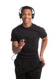 Young African American Runner Indoor Isolated Royalty Free Stock Images