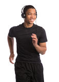 Young African American Runner Indoor Isolated Stock Photography