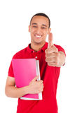 Young African American student with a book Stock Image