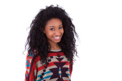 Young African American teenage girl Royalty Free Stock Photos