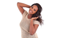 Young African American teenage girl Stock Photo