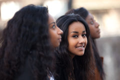 Young african american teenage girls Stock Photos
