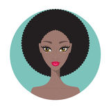 Young African American woman Beautiful girl portrait with perfect makeup Royalty Free Stock Photos