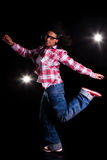 Young African American woman dancing Royalty Free Stock Image