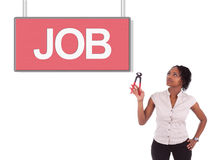 Young african american woman looking for a job Royalty Free Stock Photo