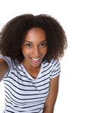 Young african american woman making selfie Stock Photography