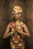 Young African American Woman Praying and Wearing T Stock Photography