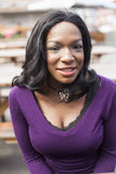 Young African American Woman in Purple Top Royalty Free Stock Photography