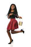 Young African American Woman with Purse Stock Image
