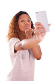 Young African American woman taking a selfie  Stock Image