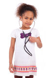 Young african asian girl holding a stethoscope Stock Photo