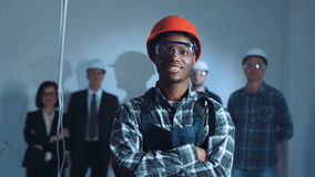 Young african builder on a site Stock Photography