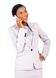Young african business woman Stock Photo