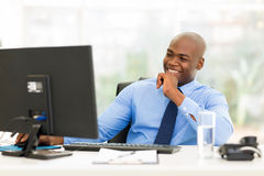 Young african businessman Royalty Free Stock Photos