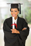 Young african college graduate Stock Photography