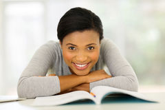 Young african college student Royalty Free Stock Images
