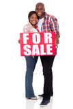 Young african couple Stock Images
