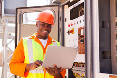 Young african engineer Royalty Free Stock Photos
