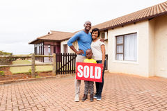 Young african family home Royalty Free Stock Image