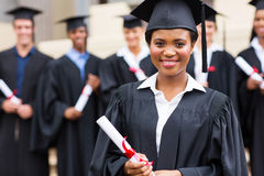 Young african girl at graduation Royalty Free Stock Photos