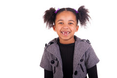 Young african girl without teeth Stock Image