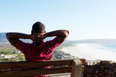 Young african guy on a vacation stock images