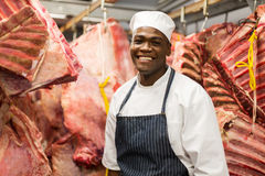 Young african male butcher royalty free stock image
