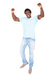 Young African Man Enjoying His Success Royalty Free Stock Photography