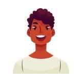 Young african man face, wow facial expression Stock Photos
