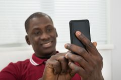 Young African Man Taking Selfie From Cellphone Royalty Free Stock Photo