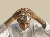 Young African man wearing a traditional celebratio Stock Photography
