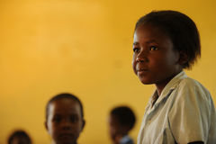Young african school girl in classroom Stock Photography