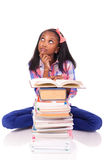 Young african Student isolated on white background Stock Image