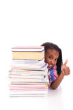 Young african Student isolated on white background Royalty Free Stock Images