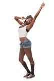 Young african woman dancing hip-hop Royalty Free Stock Photography