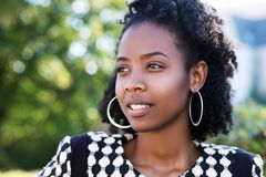 Young african woman smiling Stock Photo