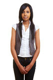 Young african woman standing. Young happy african woman looking into the camera Stock Photography