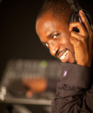 Young afro american dj Royalty Free Stock Image