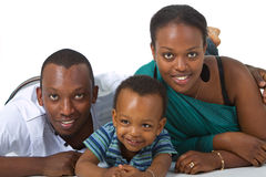 Young afro american family Royalty Free Stock Photography